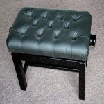 Concert stool black polyester
